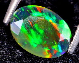 0.78cts Natural Ethiopan Smoked Faceted Welo Opal / KL419