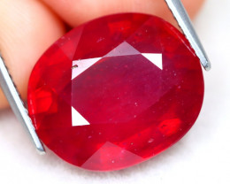 Red Ruby 14.03Ct Oval Cut Pigeon Blood Red Ruby B3005