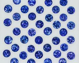 14.34Ct Natural Purple Blue Tanzanite Round 4mm Calibrated