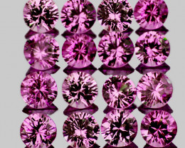 2.20 mm Round Machine Cut 20 pcs Pinkish Purple Sapphire [VVS}