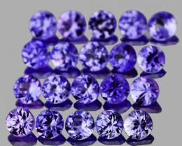 1.90 mm Round Machine Cut 25pcs Violet Blue Sapphire [VVS}
