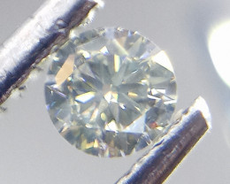 0.20ct Faint Green Diamond , 100% Natural Untreated