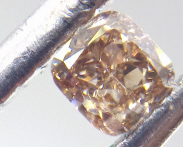 0.14ct  Fancy Brown Pink Diamond , 100% Natural Untreated