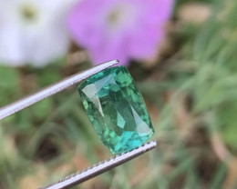4.70 Carats Bluish Green colour Tourmaline Gemstone From Afghanistan