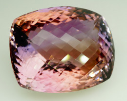 96.12 ct. Natural Earth Mined  Purple Ametrine Unheated Brazil - IGE Сertif