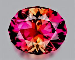 CONGO! BICOLOR! 2.61 CT VIVID Pink-Orange Tourmaline