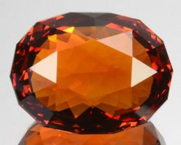 ~CUSTOM CUT~ 17.82 Cts Natural Madeira Citrine Orange Fancy Oval Brazil