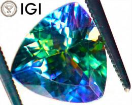 IGI IF! MULTICOLOUR PERFECTION! 3.14 CT Violet Green Tanzanite