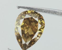 Color Tone Diamond , Pear Brilliant Cut , 0.36 cts
