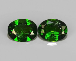 3.40 CTS NATURAL ULTRA RARE CHROME GREEN DIOPSIDE OVAL RUSSIA NR!!