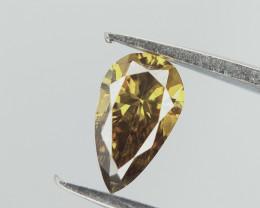 Dual Shaded  Diamond , Pear Brilliant Cut , 0.22 cts