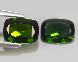 2.65 CTS NATURAL ULTRA RARE CUSHION CHROME GREEN DIOPSIDE RUSSIA~