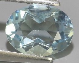 1.40 Cts - Sparkling Luster -Oval~Cut- Natural Rare Aquamarine !!