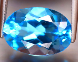 Swiss Topaz 5.95Ct Natural VVS Swiss Blue Topaz EF0119/A48