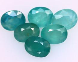 Grandidierite 5.89Ct 6Pcs Natural World Rare Gemstone EN53/B11