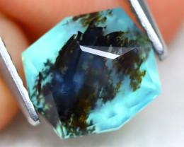 Paraiba Opal 1.93Ct Master Cut Natural Seaform Dendrite Blue Opal B3107