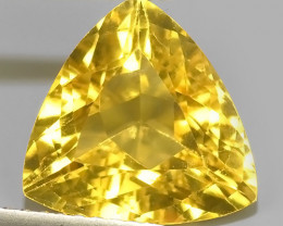 3.40 CTS DAZZLING NATURAL GOLD YELLOW BERYL TRILLION PERFECT CUT~EXCELLENT!