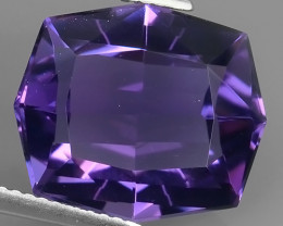 STUNNING 9.25 CTS FANCY CUSHION CUT NATURAL TOP PURPLE~VIOLET AMETHYST~$180