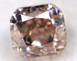 Champagne Pink Diamond 0.13Ct Natural Untreated Fancy Diamond BM0819