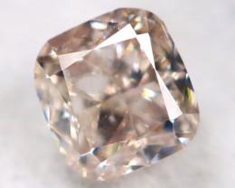 Peach Pink Diamond 0.14Ct Natural Untreated Fancy Diamond BM0822