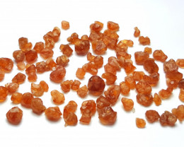 Amazing Natural color gemmy quality Spessartine Garnet Crystals 50Cts-Afgha