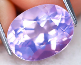 Lavender Amethyst 4.00Ct VVS Oval Cut Natural Lavender Amethyst A0111