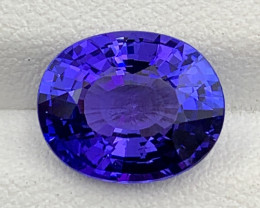 4.36 CT Tanzanite Gemstone Top luster and cutting loupe clean