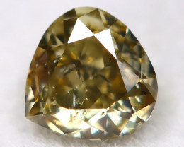 Yellowish Green Diamond 0.23Ct Untreated Genuine Fancy Diamond A0116