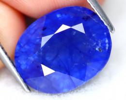 Blue Sapphire 10.42Ct Oval Cut Madagascar Royal Blue Sapphire B0117