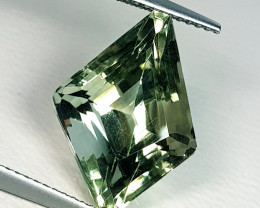 8.59 ct Exclusive Big Gem Fancy Cut Natural Green Amethyst