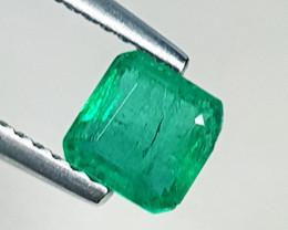 0.87 ct AAA Grade Stunning Square Cut Top Green Natural Emerald