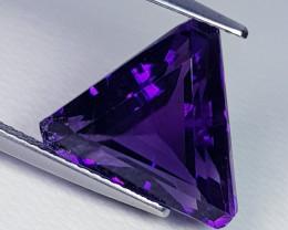 9.11 ct  Top Quality Gem Superb Triangle Cut Natural Purple Amethyst