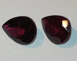 Rhodolite pair, 3.030ct, very pretty pair for earrings or other jewelry!