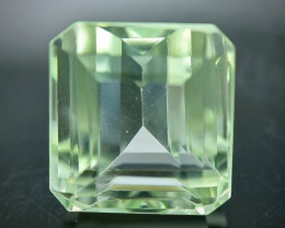 14.18 Crt  Green Prasiolite Amethyst Faceted Gemstone (Rk-86)