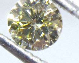 0.40ct Fancy Green  Diamond , 100% Natural Untreated
