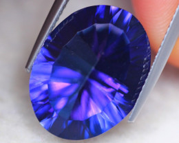 11.15ct Natural Vivid Violet Blue Topaz Oval Cut Tanzanite Color Lot D381