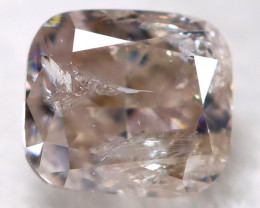 Champagne Pink Diamond 0.23Ct Natural Untreated Fancy Diamond BM0840