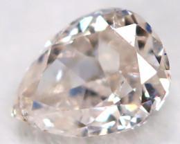 Peach Pink Diamond 0.13Ct Natural Untreated Fancy Diamond BM0846