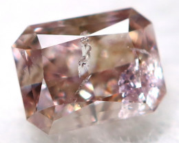 Champagne Pink Diamond 0.13Ct Natural Untreated Fancy Diamond BM0850