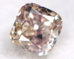 Peach Pink Diamond 0.11Ct Natural Untreated Fancy Diamond BM0873