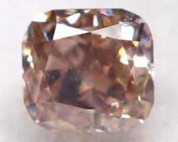 Champagne Pink Diamond 0.10Ct Natural Untreated Fancy Diamond BM0868