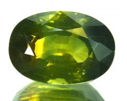 3.20 Cts Natural Sapphire Yellowish Green Oval Cut Madagascar