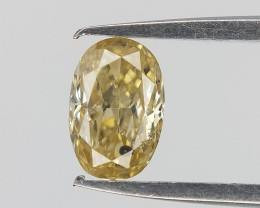 Oval Brilliant Cut , Mild Yellow Diamond , 0.23 cts