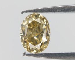 Mild Green Diamond , Oval Brilliant Cut , 0.27 cts
