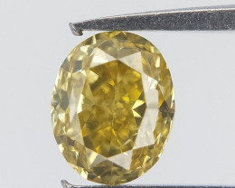 Core Yellow Diamond , Oval Brilliant Cut , 0.25 cts