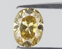Oval Brilliant Cut , Yellow Spread Colour Diamond , 0.23 cts