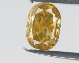 Yellow Colour overtone Diamond , Oval Brilliant Cut , 0.25 cts