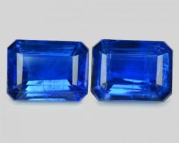 3.83 Cts 2 Pcs Fancy Royal Blue Color Natural Kyanite Gemstone Parcel