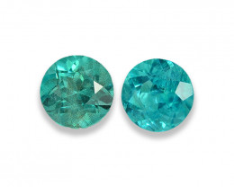 2.22 Cts Stunning Lustrous Paraiba Color Round Apatite