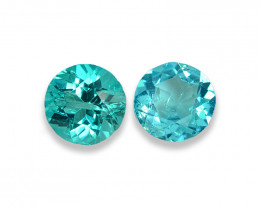 1.98 Cts Stunning Lustrous Paraiba Color Round Apatite